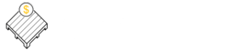 Marks Pallets Company Logo - White Text, White and Gold Logo