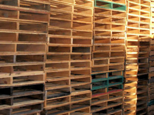 Assorted Standard Pallets stacked in our Sydney yard